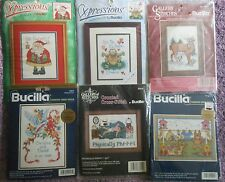 "CHOOSE ONE:  BUCILLA COUNTED CROSS STITCH KITS   5"" x 7"" PICTURES"