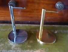 STRAIGHT ARMED POCKET WATCH STAND - CHROME / GOLD PLATED - 95MM HIGH