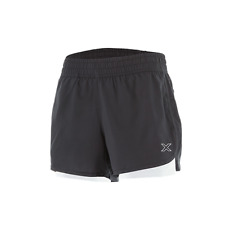 """2XU Womens X-Vent 4"""" 2in1 with Compression Undershorts Running Shorts Black/Pear"""