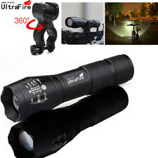 Ultrafire 20000 LM T6 LED Flashlight Zoomable Tactical 18650 +Torch Holder 5Mode