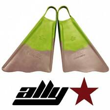 New Ally Floating Swim/Bodyboarding Fins/Size Small/Green/Gray