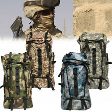 80L Army Military Tactical Backpack Rucksack Hiking Trekking Camping Bag Outdoor
