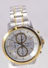 Men's Seiko SKS456 Two Tone Stainless Steel Silver Chronograph 100M Dial Watch