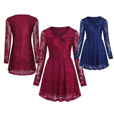 Women's New Vintage Lace Cocktail Formal Wedding Evening Party Swing Tea Dress