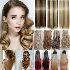 Extra Long One Piece Clip in Synthetic Long Wavy Woman Party Hair Extensions FR7