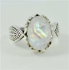 RAINBOW MOONSTONE JUNE  BIRTHSTONE  925 SILVER MENS/WOMEN RING #r0238 MU5