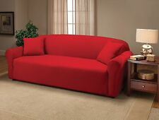 JERSEY STRETCH COVERS(SOFA/LOVESEAT/CHAIR/RECLINER)--RED--