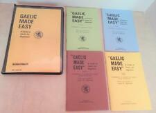 GAELIC MADE EASY - 4 Tapes + Books 1 - 2 - 3 - 4 by John Paterson