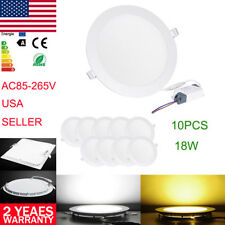 18W Ceiling Panel LED Lighting Downlight Round Recessed Flat Fixtures Lamp Bulbs