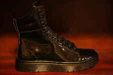 New! Womens DR. MARTENS MIX BLACK PATENT LEATHER 10-Eye Ankle Boots