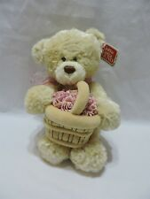 Gund Teddy Bear Spring Buds Maisley Tan Plush Stuffed Animal Flowers Soft 10""