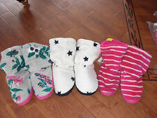 BNWT LADIES JOULES HOMESTEAD FLUFFY SLIPPERS BOOTS STRIPE OR STAR S 3-4 OR L 7-8