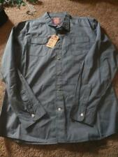 NEW MENS WRANGLER BLUE VINTAGE SLIM LONG SLEEVE SHIRT SIZE XL L BUTTON FRONT