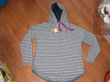 BNWT LADIES JOULES CERYS NAVY STRIPE HOODED CASUAL LOUNGE TOP SIZE 8.RRP £39.95