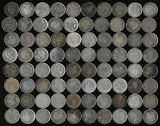 80 CANADA SILVER 5¢ (late 1800's & early 1900's) SEE THE PICTURES >> NO RESERVE