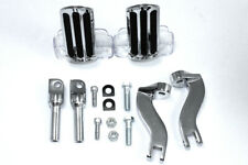 Rail Style Adjustable Footpeg Kit Chrome,for Harley Davidson motorcycles