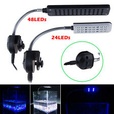 Flexible Arm 24/48 LED Clip Lamp 3 Modes Aquarium Fish Tank Led Light Lighting