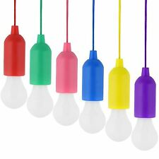 Hot Sale LED Bulb Light On A Rope Reading Lamp White Battery Operated Pull Cord