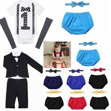 Newborn Baby Boy Short Sleeves Romper Bodysuit Jumpsuit Playsuit Cloth Outfit