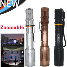 Zoomable 20000LM T6 LED Tactical 5Mode Focus Flashlight Torch Lamp Focus Hiking