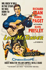 Elvis Presley Love Me Tender Music Concert Vintage Poster/Wall Canvas Print A1+