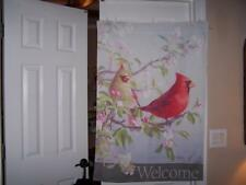 SPRING CARDINALS AND DOGWOOD  HOUSE FLAG EXCELLENT CONDITION SPRING FLAG