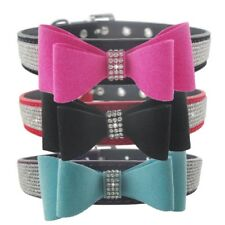 Dogs Neck Leather Straps Bling Rhinestone Collars Vest Cravat For Pets Puppy Dog