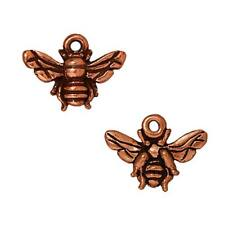 Copper Plated Pewter Honey Bee Charm 11.7mm (1)