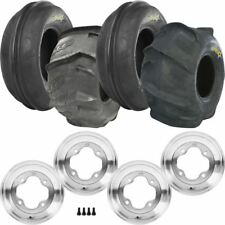 4 Pack Honda TRX 90 ITP Sand Star 2-Ply Tires Mtd on Polished ITP A-6 Pro Wheels