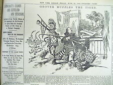 6 1892 display newspapers Democrats  nominate GROVER CLEVELAND for PRESIDENT