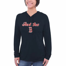Boston Red Sox Women's Downtown Hooded Long Sleeve T-Shirt - Navy Blue