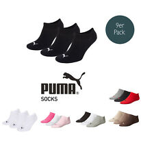 Puma Socks Invisible Sneakers Trainers Ladies, Men's 9 piece pack sizes 35-46 -