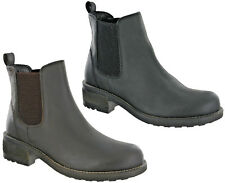 Cipriata Chelsea Leather Dealer Boots Twin Gusset Horse Riding Pull On Womens