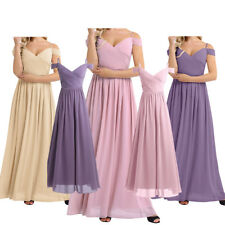 Ball Gown Long Off-shoulder Evening Party Maxi Formal Gown Dresses Bridesmaid