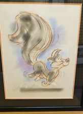Pepe Le Pew Original Colored Drawing Signed by Dick Duerrstein