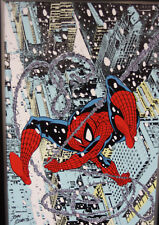 Spiderman Snow Spider Marvel LE Giclee on Canvas Signed by John Romita, Sr.