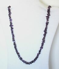 """Amethyst Natural Chip Stones Beads Strand Necklace 33"""" Long.  NWT  HATH"""