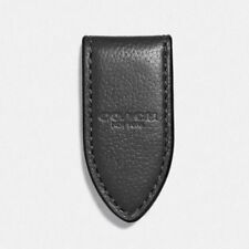 NWT Coach Black Leather Money Clip Magnetic Flap F11456 $50