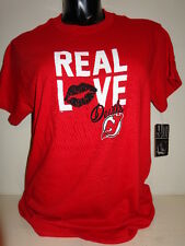 NEW JERSEY DEVILS GRAPHIC DESIGN NHL REAL LOVE JERSEY SHIRT LARGE UNISEX SIZING