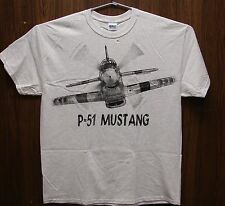 P-51 Mustang WW2  WWII Airplane T-shirt with HUGE print on front and back  ADULT
