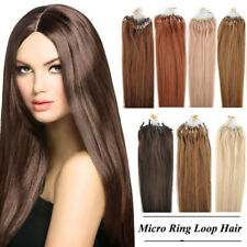 100g 100S 18/20/22 inch Micro Ring Loop Remy Women Human Hair Extensions