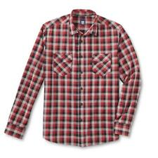 NEW MENS ROUTE 66 PLAID BLACK AND RED BUTTON UP SHIRT SIZE XXL XL LONG SLEEVE