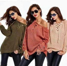 Sexy Womens Long Sleeve Knitted Sweater Tops Loose Cardigan Outwear Oversize Top