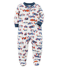 NWT ☀FOOTED FLEECE☀ CARTERS Boys Pajamas RACE CAR  New  YOU PICK  12m 24m 3T