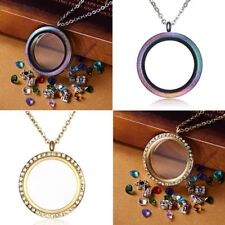 Stainless Steel Living Memory Glass Locket For Floating Charms Pendant Necklace