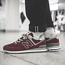 New Balance ML574 EGB Sneakers Burgundy Size 7 8 9 10 11 Mens Shoes New