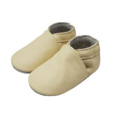 Unisex Baby Shoes Cozy Handmade Moccasins Leather Slippers Soft Sole 0-36Months