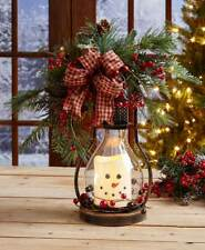 Seasonal Themed Led Lanterns Candle Polyester, Metal, Glass and PVC Winter Fall