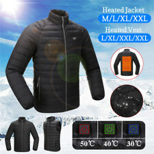 Electric USB Mens Heating Vest Jacket Winter Body Warm Heated Coat Thermal Cloth