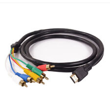 NEW HDMI to 5 RCA Male Audio Video 5FT Cable Cord Adapter for TV HDTV DVD Kd
